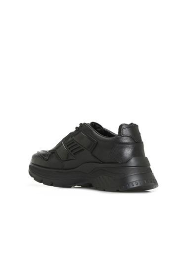 Divarese Divarese 5024736 Kalın Eva Nlı Deri Kadın Sneaker Siyah